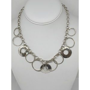 Silpada Sterling Silver Hammered Circles Necklace